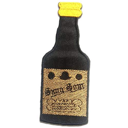 Aufnäher/Bügelbild - SangSom Thai Whiskey - schwarz - 4.8 x 12.1 cm - Patch Aufbügler Applikationen zum aufbügeln Applikation Patches Flicken