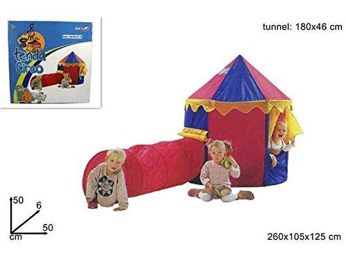 Vorhang Zirkus mit Tunnel 260x 105x 125Spielzeug Spiele Bildung Lernen Spielzeug Spiel Idee Geschenk Weihnachten # AG17