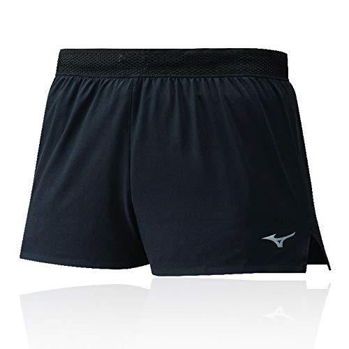 Mizuno Aero Split 1.5 Short Pantalón Corto, Hombre, Black, XL
