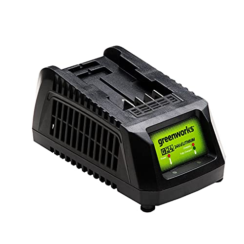 Greenworks Battery Charger G24UC (Li-Ion 24 V 60W Output Suitable for All Batteries of the 24 V Greenworks Series)