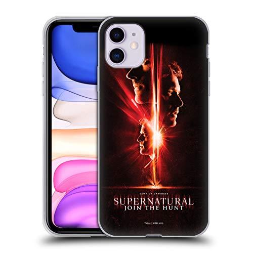 Offizielle Supernatural Sam, Dean & Castiel Schluessel Kunst Soft Gel Huelle kompatibel mit iPhone 11