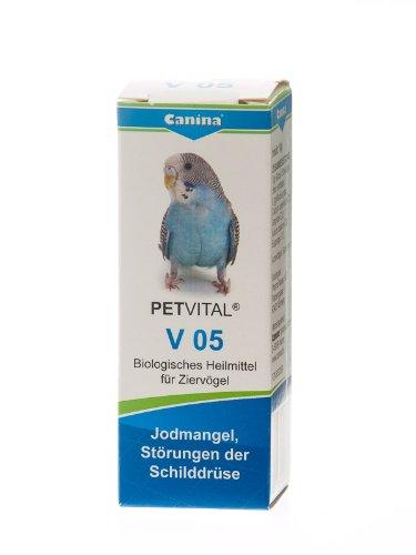Canina 40005 8 Petvital V 05 10 g Globuli für Vögel