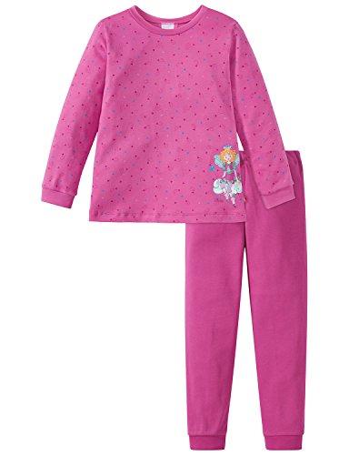 Schiesser Mädchen Prinzessin Lillifee Md lang Zweiteiliger Schlafanzug, Rot (Pink 504), 104