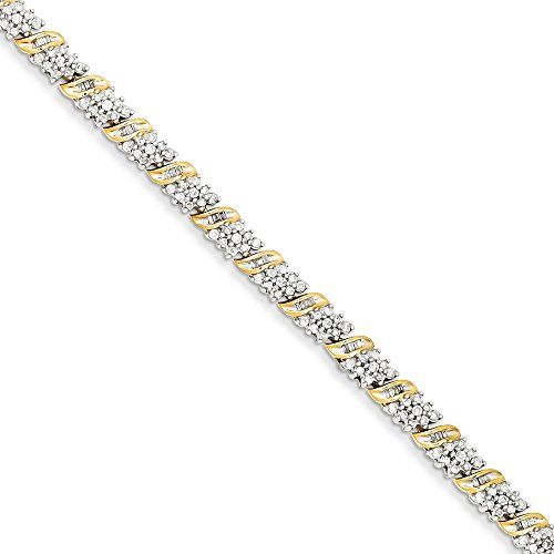 Damen-Armband, 14 Karat Gelbgold, Diamant, 17,8 cm (1,98 Karat, H/SI2)