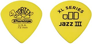 Dunlop 498P.73 Tortex Jazz III XL, Yellow, .73mm, 12/Player's Pack