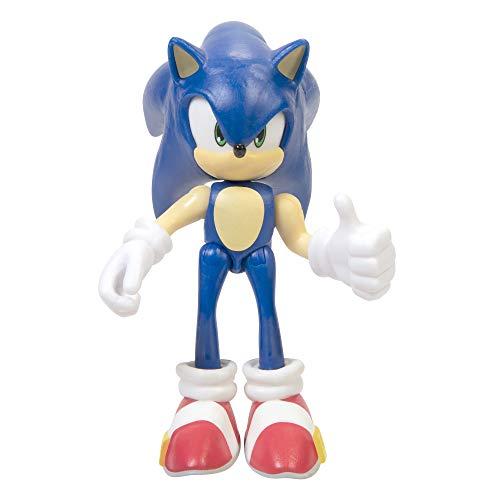 SONIC The Hedgehog - Jakks Modern Sonic bewegliche Action Spielfigur 6 cm, Wave 2, Minipuppen, 403774