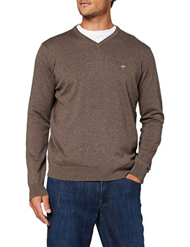FYNCH-HATTON Herren V-Neck Pullover, Braun (Earth 860), XX-Large