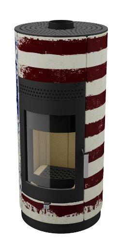 Camino/legno forno bandiere - Stars and Stripes 6kW