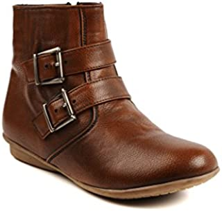 Bruno Manetti Women's Tan Faux Leather Boots