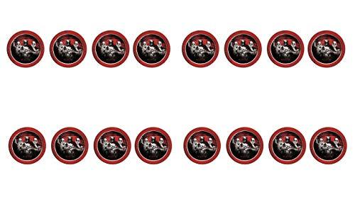 2546; 16-pack Disney Star Wars-platen, rood; kartonnen product, ideaal voor feesten en verjaardagen; diameter 23 cm