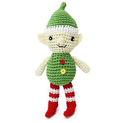 DOGO Christmas Elf Crochet Dog Toy
