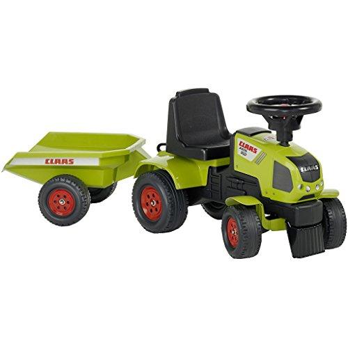 vidaXL Tractor con Remolque Falk Claas Axos 310, 1/3 años, Verde