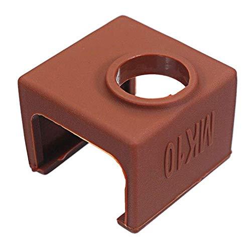 XUSHEN-HU Accesorios de computadora, De Silicona Funda Protectora MK10 Color Café para Calefacción Bloque de Aluminio 3D Impresora Parte de Herramientas Finales