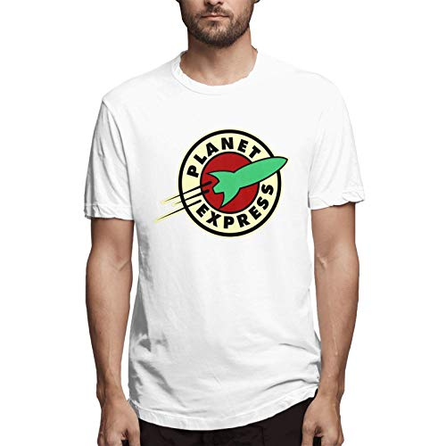 Vanalyn Planet Express - Camiseta de manga corta para hombre con cuello redondo - blanco - Small
