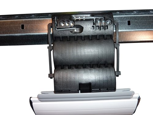 Mecanismo de elevación, conector ondulado fijo, 1, 2 o 3piezas, para persiana (protección antirrobos)