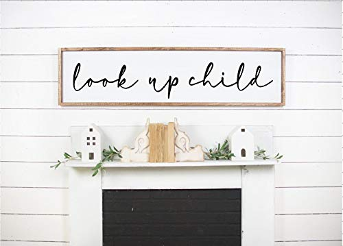 DASON Look Up Child Lyrics Sign Lauren Daigle SignLauren Daigle LyricsChristian Music Lyrics Farmhouse SignChristian Quote Sign