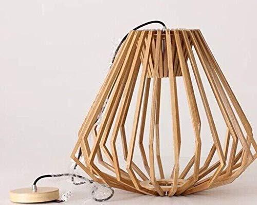 WHKHY Flush Lamps Lights Industrie du Bois et pendentifs Support en Diamant avec personnalité en Bois Massif,42 * 60cm