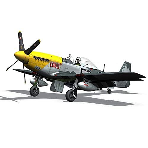 WBDZ 1:72 Modelo de avión de la Segunda Guerra Mundial, Armas de EE. UU. Modelo P-51 de EE. UU, Juguetes para niños (5,4 Pulgadas y 6,1 Pulgadas)