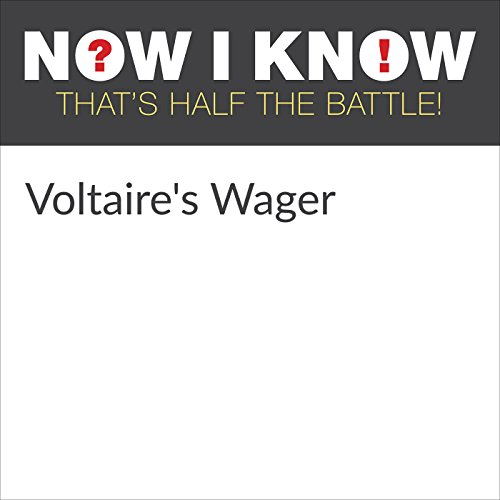 Voltaire's Wager audiobook cover art