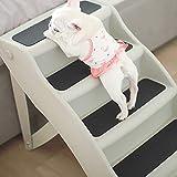 Taburete de escalera ZCJB Escaleras Portátiles para Perros Y Plegables para Terrier, 4-Step PP Rampas para Perros, Levantar Grandes Perros con Artritis En El Maletero Taburete