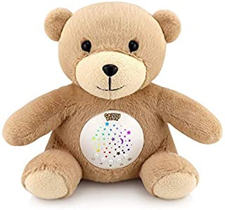 دنج خواب خرس دنج   سر و صدای کودک کودک و صدای لالایی کودک   چرخش رنگ پروژکتور ستاره   سنسور گریه   خواب قابل شارژ و کمک های آرامش بخش USB   2019 بهترین ثبت برای هدیه دوش کودک