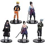 Naruto Cake Topper, 5 piezas Naruto Figuras Set Naruto Cake Topper Decoración Dibujos animados Cake ...