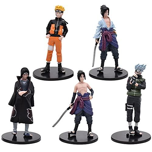 Naruto Cake Topper, 5 piezas Naruto Figuras Set Naruto Cake Topper Decoración Dibujos animados Cake...