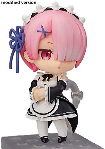 Lotote Anime-Modell Re Zero Ram Nendoroid PVC Figur Statue Actionfigur Sammelfigur, für Home Car Decoration Collection