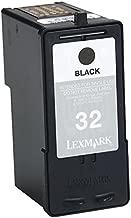 Lexmark Genuine Brand Name, OEM 18C0533 No. 32 (Lexmark #32) Black Ink Cartridge Dual Pack (2/Pack) for X5150, X6150, X6170, Z55, Z65, Z65N Printers
