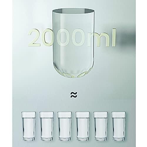 YLiansong-home Jarra de Agua Frío Agua Jarra Creativa Simple Vidrio Botella de Agua Tetera Jugo Tetera Bebida Jarfe Jarra de Jugo (Color : Pink, Size : 2000ml)