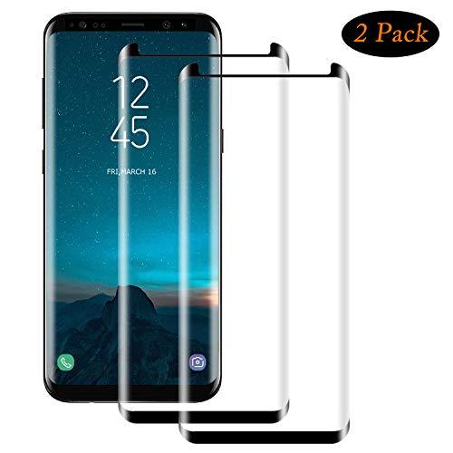 NUOCHENG Panzerglas Schutzfolie für Samsung Galaxy S9 Plus, [2 Stück] Volle Bedeckung Panzerglasfolie mit Anti-Kratzer, Bläschenfrei, 9H Härte, HD-Klar Displayschutzfolie für Samsung S9 Plus