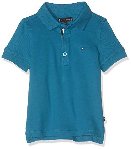 Tommy Hilfiger Baby-Jungen Essential Slim Polo S/S Poloshirt, Blau (Saxony Blue 491), (Herstellergröße:74)