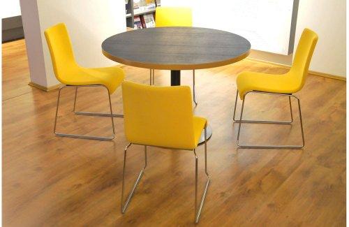 shogazi Schlafkultur Sitzgruppe - Tisch Ø 110 cm inklusive 4 Stühle, AUSSTELLUNGSSTÜCK - STARK REDUZIERT UVP 2.145,- EUR
