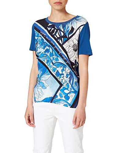 Desigual TS_Pals Camiseta, Azul, XL para Mujer