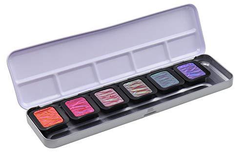 Finetec Weddix-Chinchetas (30 x 22 mm, 6 unidades, en caja de metal), Goma arábiga, pigmentos, 1