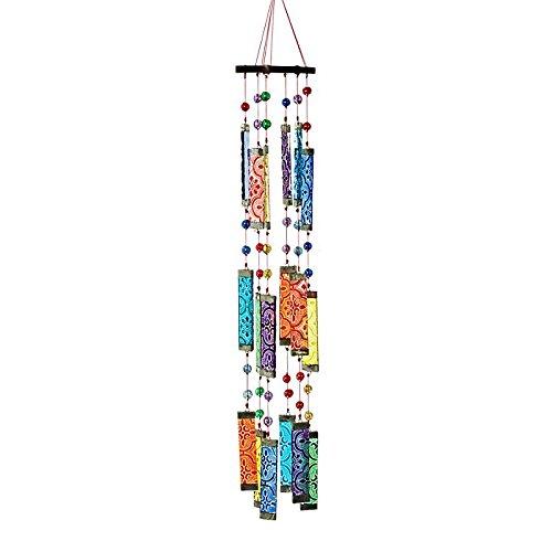 CRISTALICA Fensterschmuck Windspiel Suncatcher Mobiléglasstäbe und Perlen Bunt 50 cm
