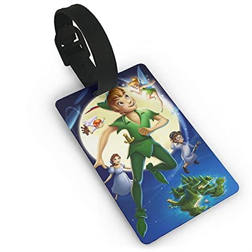 Peter Pan equipaje etiqueta maleta equipaje hombres y mujeres PVC sólido y duradero tarjeta de viaje niños accesorios de viaje 5.4x8.5cm