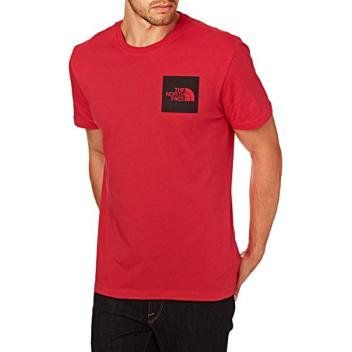THE NORTH FACE M S/S Fine Tee Tricot, Rouge (TNF Red), L Homme