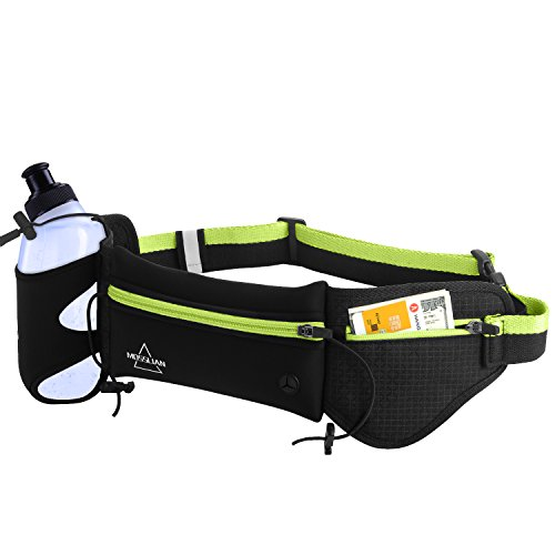 MOSSLIAN Running Belt, Sports Riñonera con Botella de Agua Sports Running...