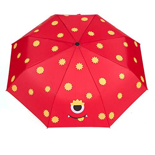 JINGMAN Reiseschirm Karikatur gedruckte Regenschirme scherzt Regen-Regenschirm der Kinder 8 Rippen-Klappschirme für Jungen-Mädchen-Regen-Ausrüstung im Freien, Schokolade, eine Größe