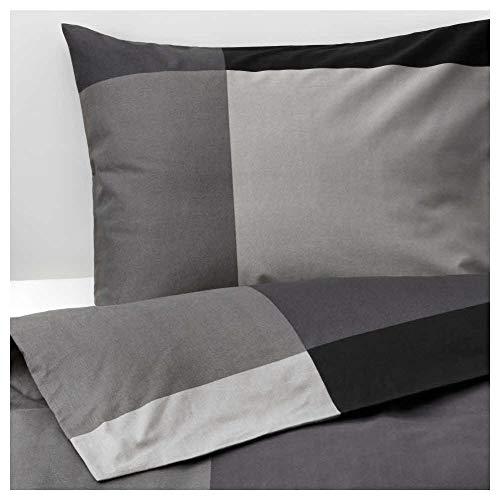 Ikea Asien BRUNKRISSLA Bettbezug und 2Kissenbezügen, Schwarz