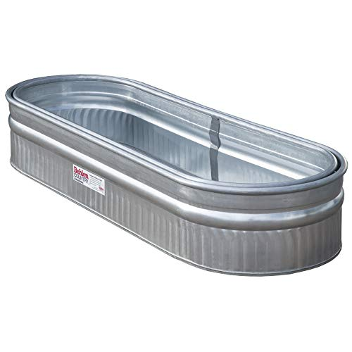 Behlen Country 50130218K 2' x 1' x 6' Round-End Galvanized Steel Stock Tank Nested Bundle, Approximately 80 Gallon (Pack of 2 Tanks)