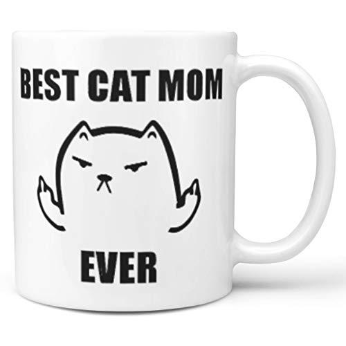 O4EC2-8 11 Unze Beste Einhorn Mom Ever Wasser Cappuccino Becher Tassen mit Griff Hochwertige Keramik...