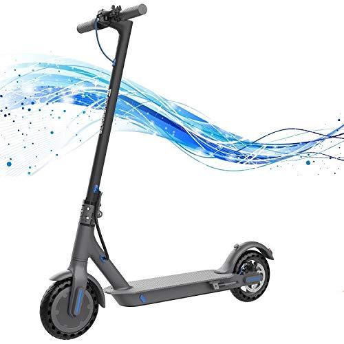 Monopattino Elettrico Scooter, Monopattino Elettrico per Adulto velocità Massima 22.5km/h, Fanale e Display a LED, Scooter da 11 kg Super Leggero Monopattino Elettrico Pieghevole (Black)