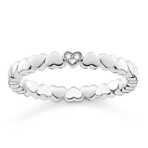 Thomas Sabo Damen-Ring Glam & Soul 925 Silber Diamant (0.05 ct) weiß Gr. 54 (17.2) - D_TR0013-725-14-54