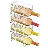 mDesign Soporte para botellas de vino apilable – Botellero para vinos con...
