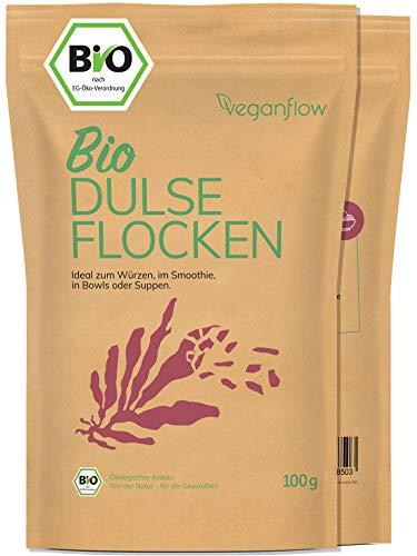 veganflow® Dulse Flocken Bio aus dem Atlantik, Rotalgen für Smoothies oder als Trocken-Gemüse