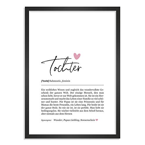 Himmelsflüsterer - Definition Poster & Kunstdrucke | Tochter Geschenke | Wandbilder Wohnzimmer | Geschenk Tochter Geburtstag | Wanddeko Deko Wohnzimmer | DINA A5 ohne Rahmen