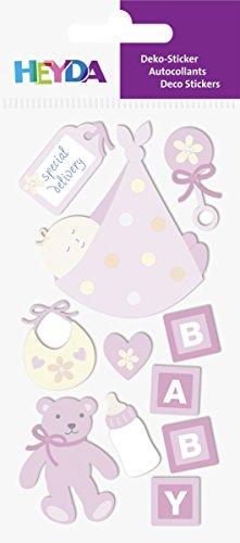 Heyda 203780630 Stick-On's Mix, Motiv: Baby Girl 2