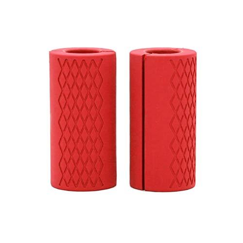 Kagodri Empuñaduras para mancuernas, 1 par de protectores de mano de mango de silicona, tire hacia arriba de la cinta brazo Shockwave adaptador